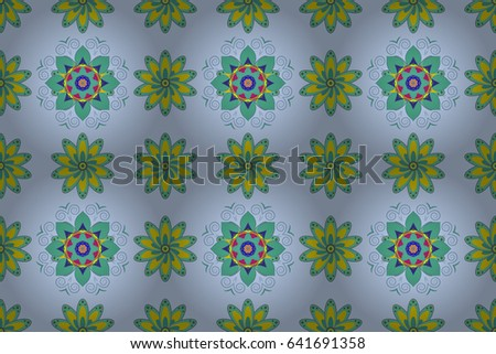 Endless raster texture for romantic design, decoration, greeting cards, posters, wrapping, for textile print and fabric. Floral seamless pattern with bright summer flowers in colors.