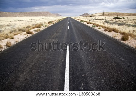 endless road - stock photo
