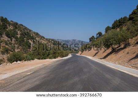 Endless road - stock photo