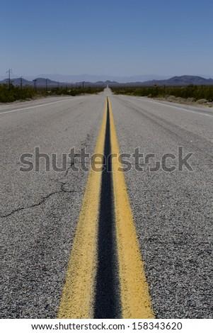 Endless roads in Arizona desert, USA  - stock photo