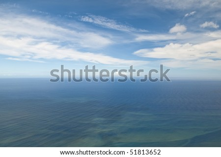 Endless sea and endless blue sky
