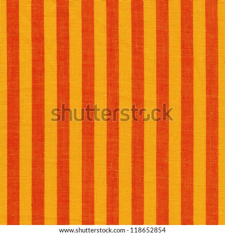 Yellow red striped fabric