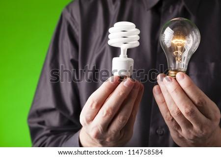 Energy choice - stock photo