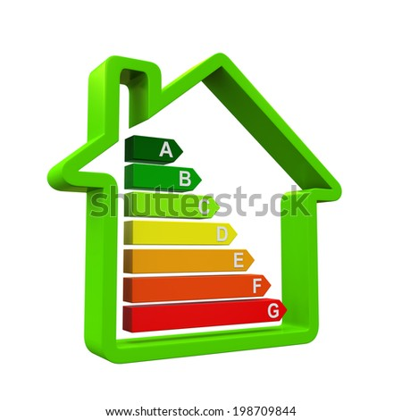 Energy Efficiency Levels - stock photo