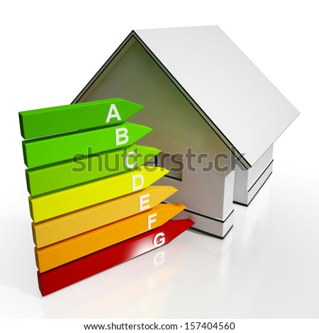 Energy Efficiency Rating And House Shows Conservation And Savings