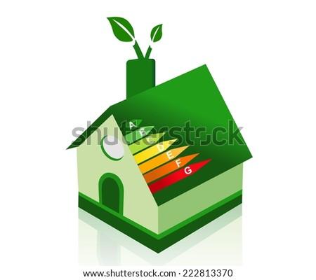 Energy efficient green house - stock photo
