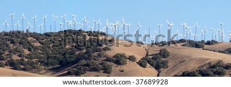 energy generator farm in California - stock photo