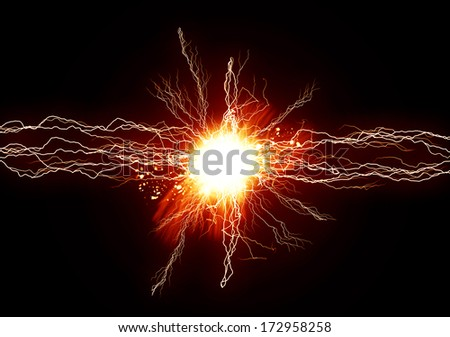 Energy light - stock photo