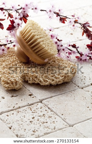 energy massage for beauty and purity at the spa - stock photo