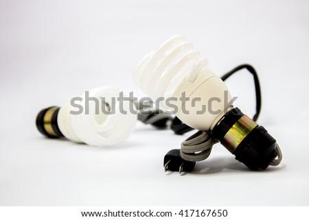 energy saver bulbs cool daylight save money - stock photo