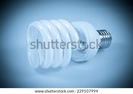 Energy Saver Lamp, Energiesparlampe - stock photo