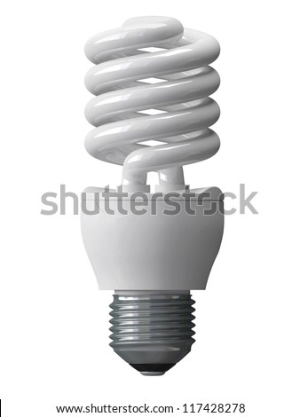 energy saving bulbs for illumination isolated - 3d