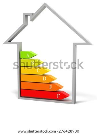 energy saving concept with house icon - stock photo