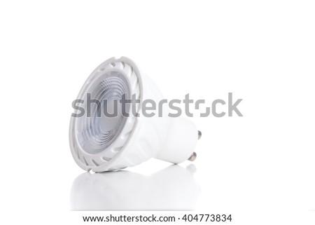 Energy saving LED light bulb isolated on white. - stock photo