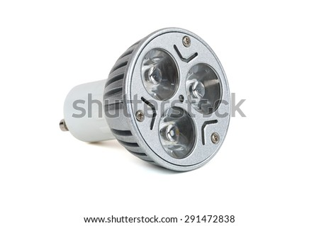 Energy saving LED light bulb isolated on white background with clipping path