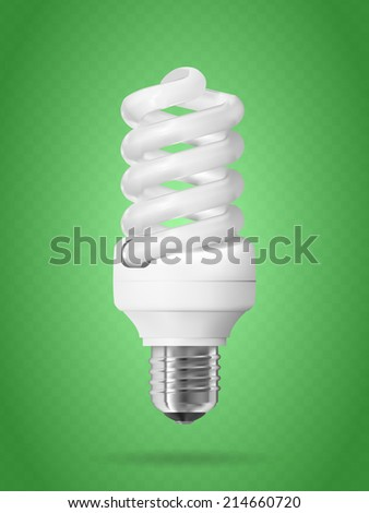 Energy saving light bulb.  - stock photo