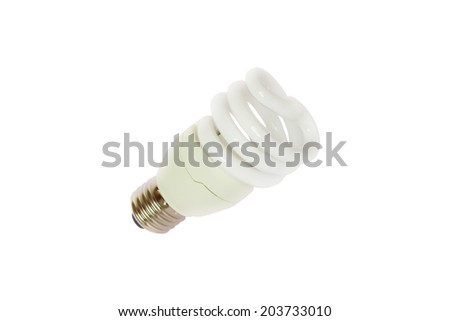 Energy saving light bulb isolate on white background - stock photo