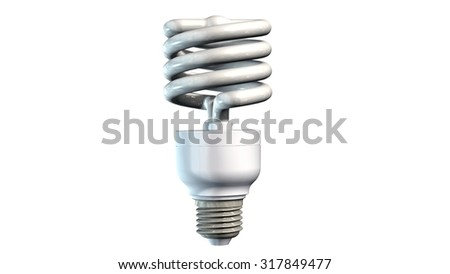 Energy saving light bulb - isolated on white background