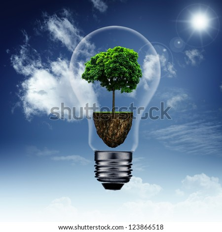 Energy savings and eco backgrounds for your design - stock photo