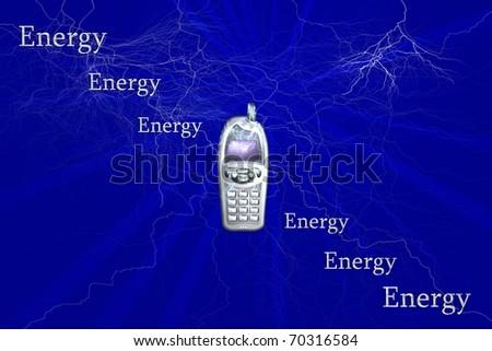 Energy texture - stock photo