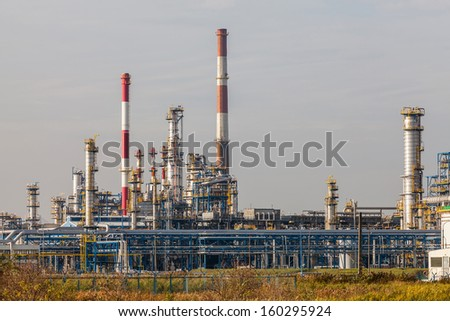 Energy - view of the refinery