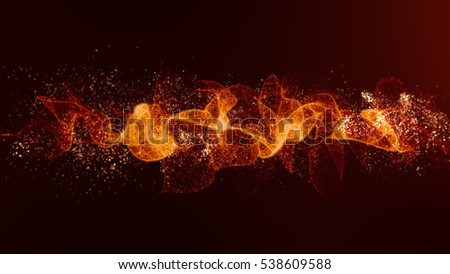 Energy wave vibrant particles flow Background Animation