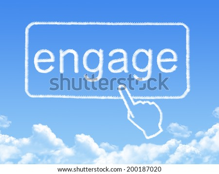 engage message cloud shape - stock photo