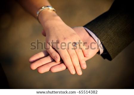 Engagement ring - stock photo