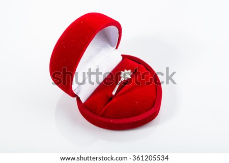 Engagement ring stock images royalty free images for Heart shaped engagement ring box
