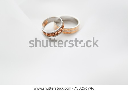 Engagement Two Rings On Soft White Stock Photo Safe To Use