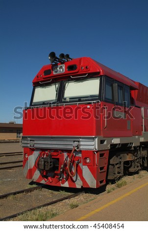 engine of the Ghan in Australia