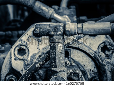 Engine's details - stock photo