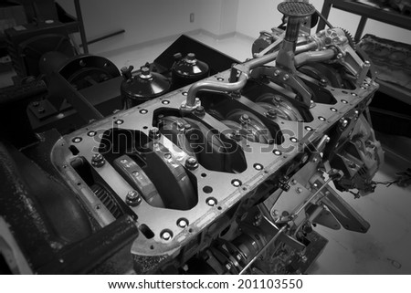 Engine spare machine Engine valve cover - stock photo
