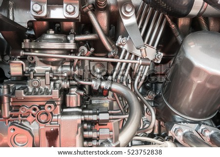 Engine speed boat, Engine of yacht ship