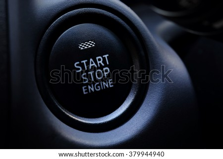 Engine Start Button in car