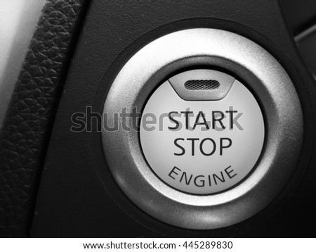 Engine Start/Stop Button in Car