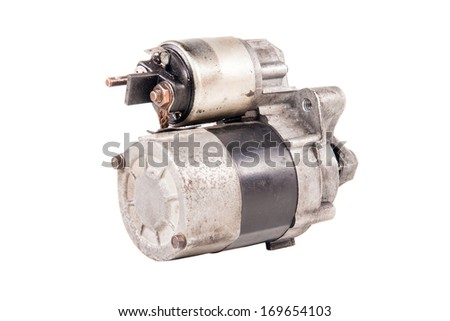 Engine starter isolated on white