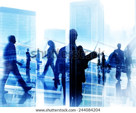Engineer Architect Professional Occupation Corporate CIty Work Concept - stock photo