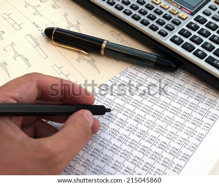 engineer calculating a structure          - stock photo