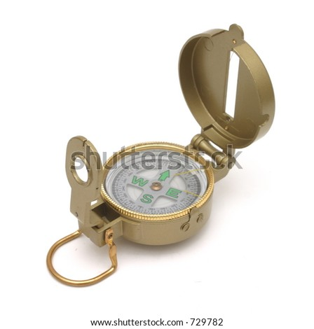 Engineer Compass - stock photo