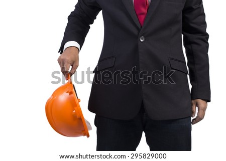 engineer for workers on white background - stock photo