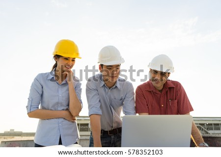 Engineer group worker meeting discussion construction stock photo engineer group and worker meeting discussion with construction blueprint on site work malvernweather Image collections