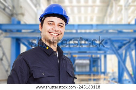 Engineer in a factory - stock photo