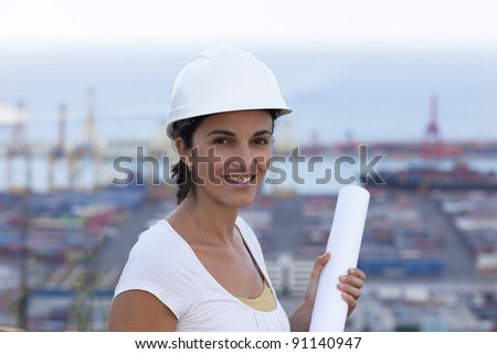 Engineer looking in the camera