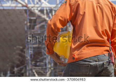 Engineer on construction site