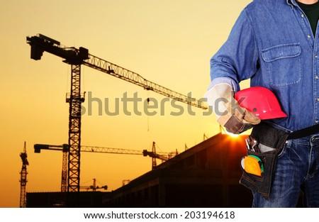Engineer on site  - stock photo
