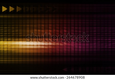 Engineering Abstract and Industrial System as Art - stock photo