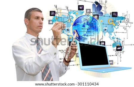 Engineering computer technology - stock photo