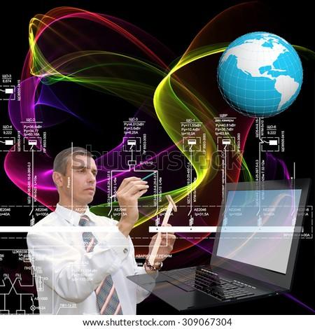 Engineering computer technology - stock photo