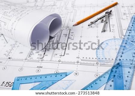 Engineering, Construction, Engineer. - stock photo